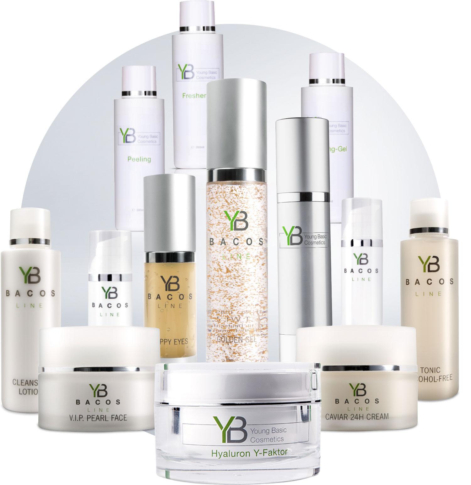 Kombinieren Sie den Hifu Young Skin Pro 3D mit der hochwertigen Kosmetiklinie von Young Basic. Die ideale Ergänzung für die besten Ergebnisse.